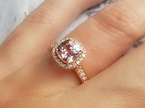 Light Pink Sapphire Engagement Ring