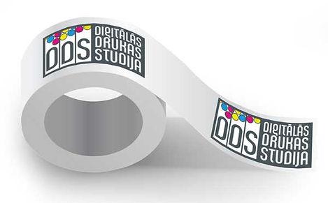 Līmlenta ar DDS logo