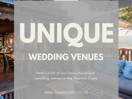 Our favourite unique & quirky wedding venues