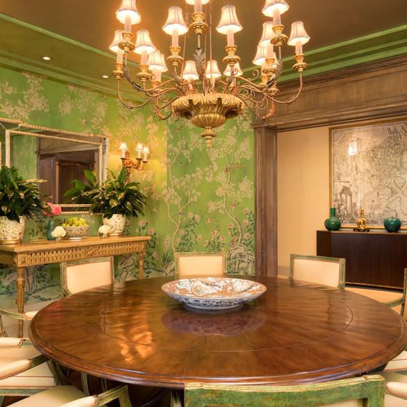 Green Dinning Room