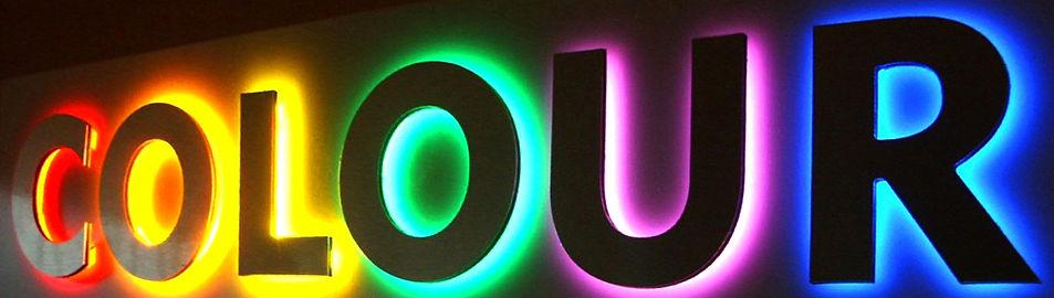 световая реклама, световые буквы