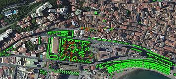 Censimento informatizzato del Verde Comune di Salerno: foto aerea