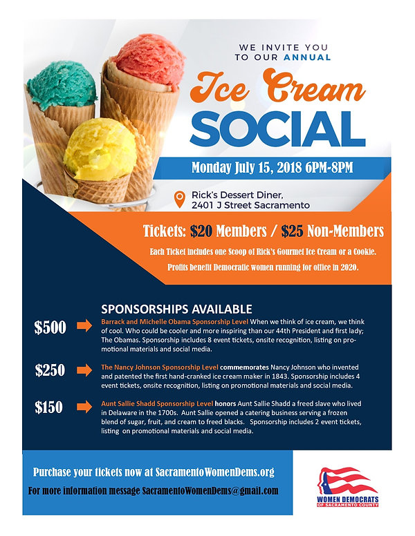 It's our yearly Ice Cream Social!  Join the WDSC and help us support candidates and legislation that help our communities.