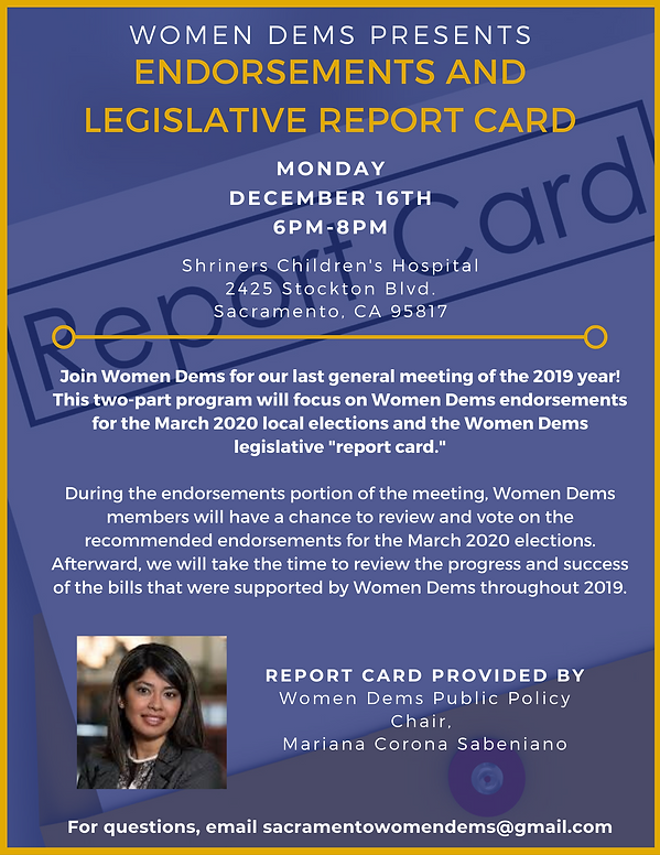 Endorsements and legislative report cards - join us for a lively debate!