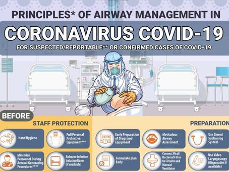Principii pentru managementul cailor respiratorii la pacientii cu COVID-19