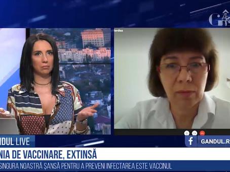 """Dr. Valeria Herdea, despre vaccin și vaccinare: """"Dacă ne informăm corect, luăm decizia corectă!"""""""