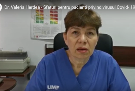 Dr. Valeria Herdea - mesaj pentru pacienti