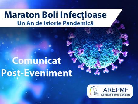 Comunicat post-eveniment: Maraton Boli Infecțioase - Un An de Istorie Pandemică