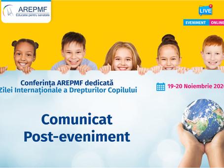 Comunicat post-eveniment Conferința AREPMF dedicată Zilei Internaționale a Drepturilor Copilului