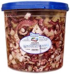 geschnittener Krakensalat