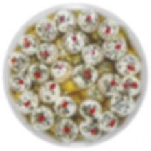 gegrillte Champignons mit Frischkäsefüllung