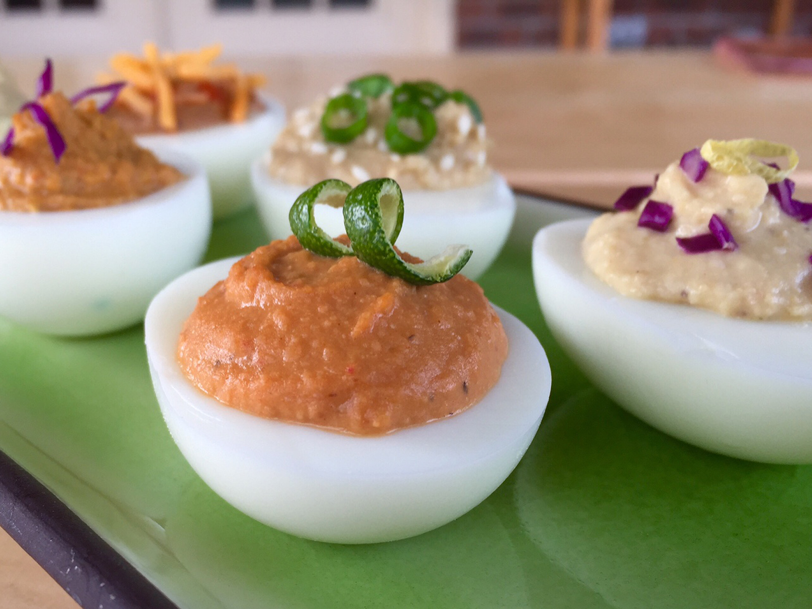 Deviled Eggs Chickpea Chicks Style