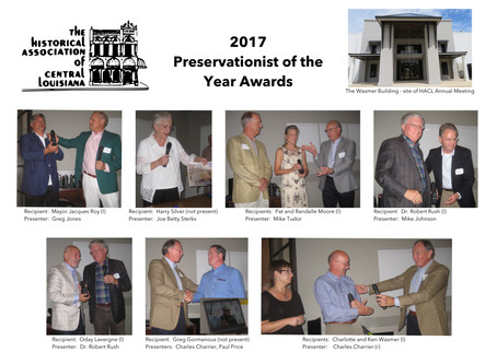 July 9 - Preservationist of the Year Awards and Annual Meeting