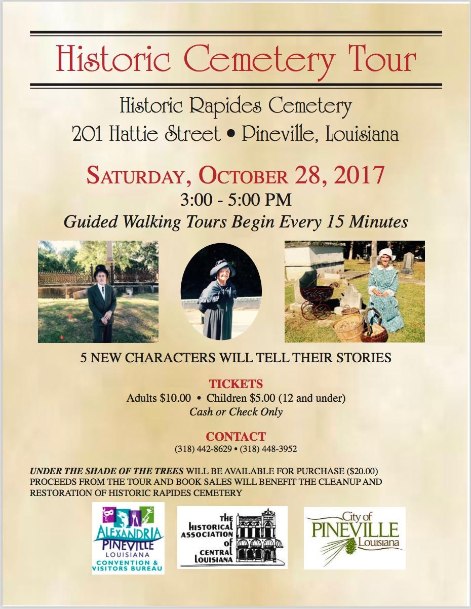 10/28/2017 Cemetery Tour poster