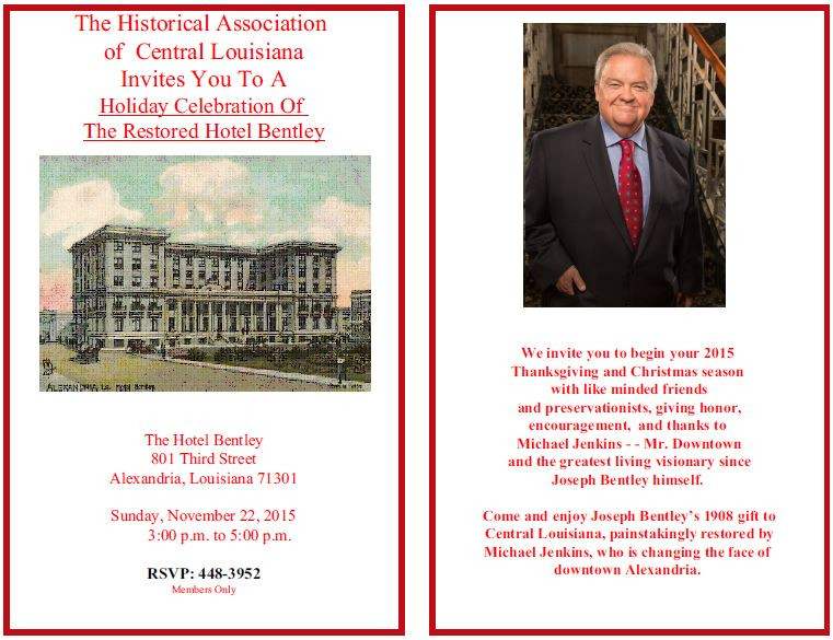 The Hotel Bentley, 11/22/2015 3-5 p.m.