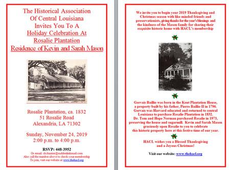 11/24 - Holiday Party at Rosalie