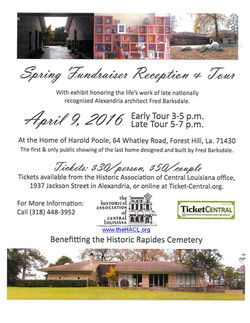 20160409-Brother Poole House-Benefit for Historic Rapides-Cemetery-with URL
