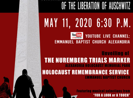 75th Anniversary - Liberation of Auschwitz - 5/11/2020
