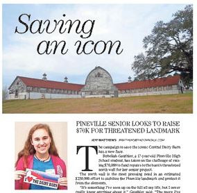 Pineville Senior raising funds for Dairy Barn