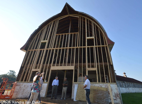 Dairy Barn North Wall Project - underway