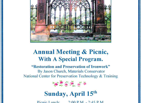 Annual Meeting and Picnic - 4/15/2018