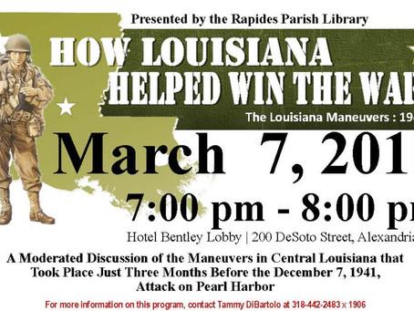 How Louisiana Helped Win the War - 3/7/2018