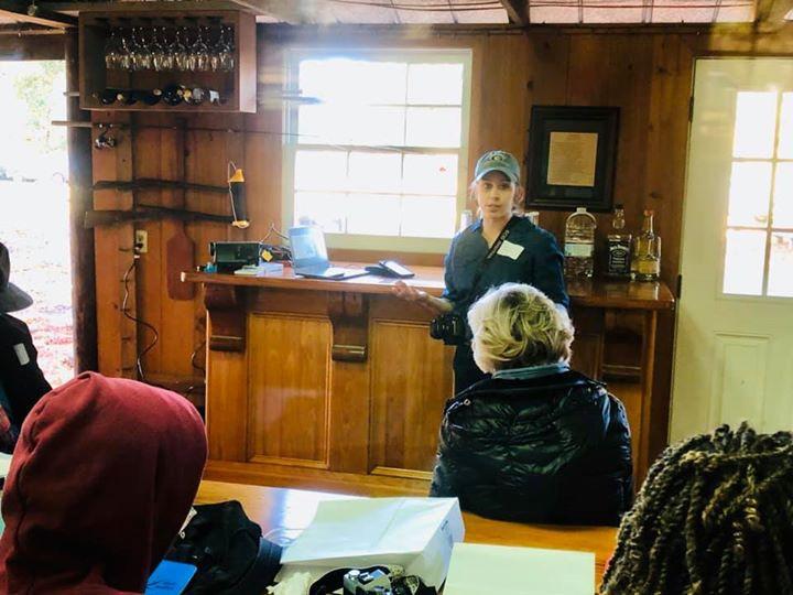 Danielle Atkins teaching on preparing for land management.
