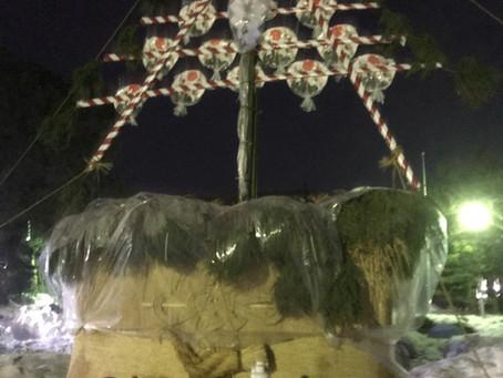 幾久白山神社左義長祭無事終了しました