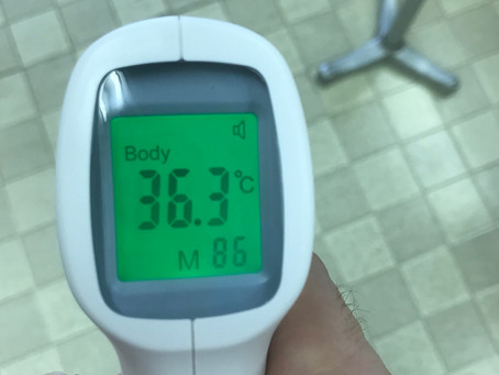 本日の検温です