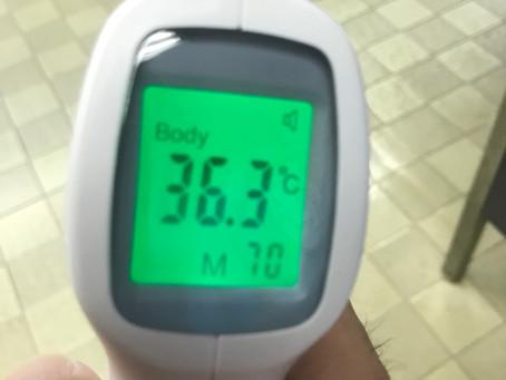 今日の検温です