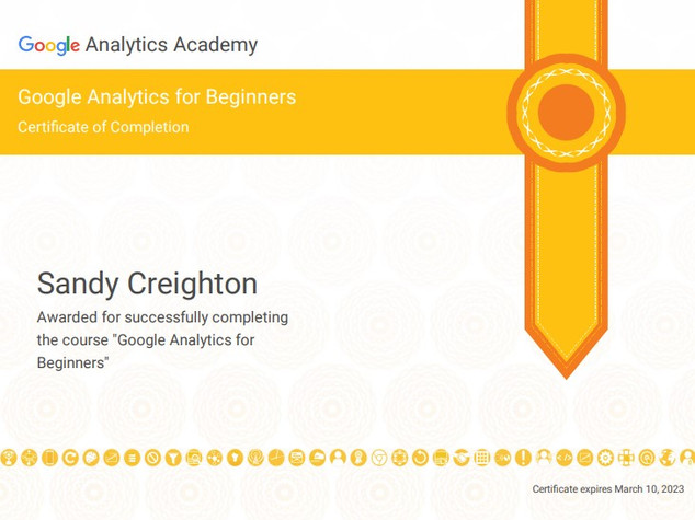 Google Analytics Beginner Certificate.jp