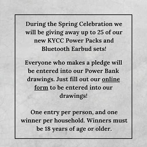 During the Spring Celebration we will be