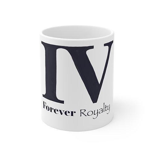 11oz Forever Royalty White Mug