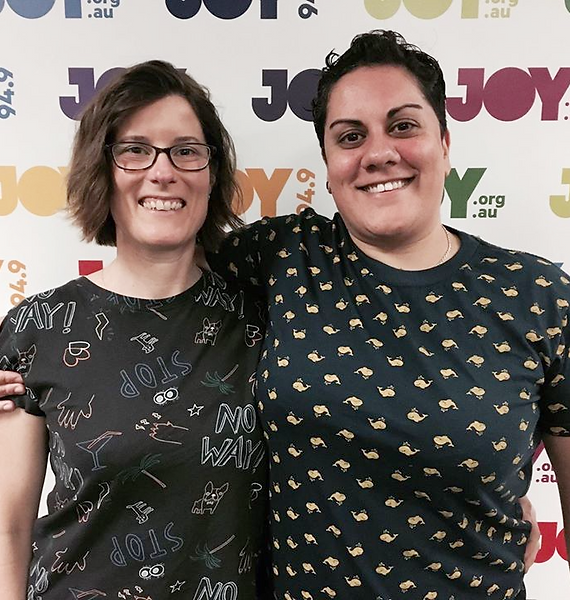 Michele and Claudia on Joy FM