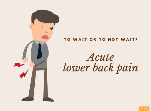 Acute lower back pain treatment