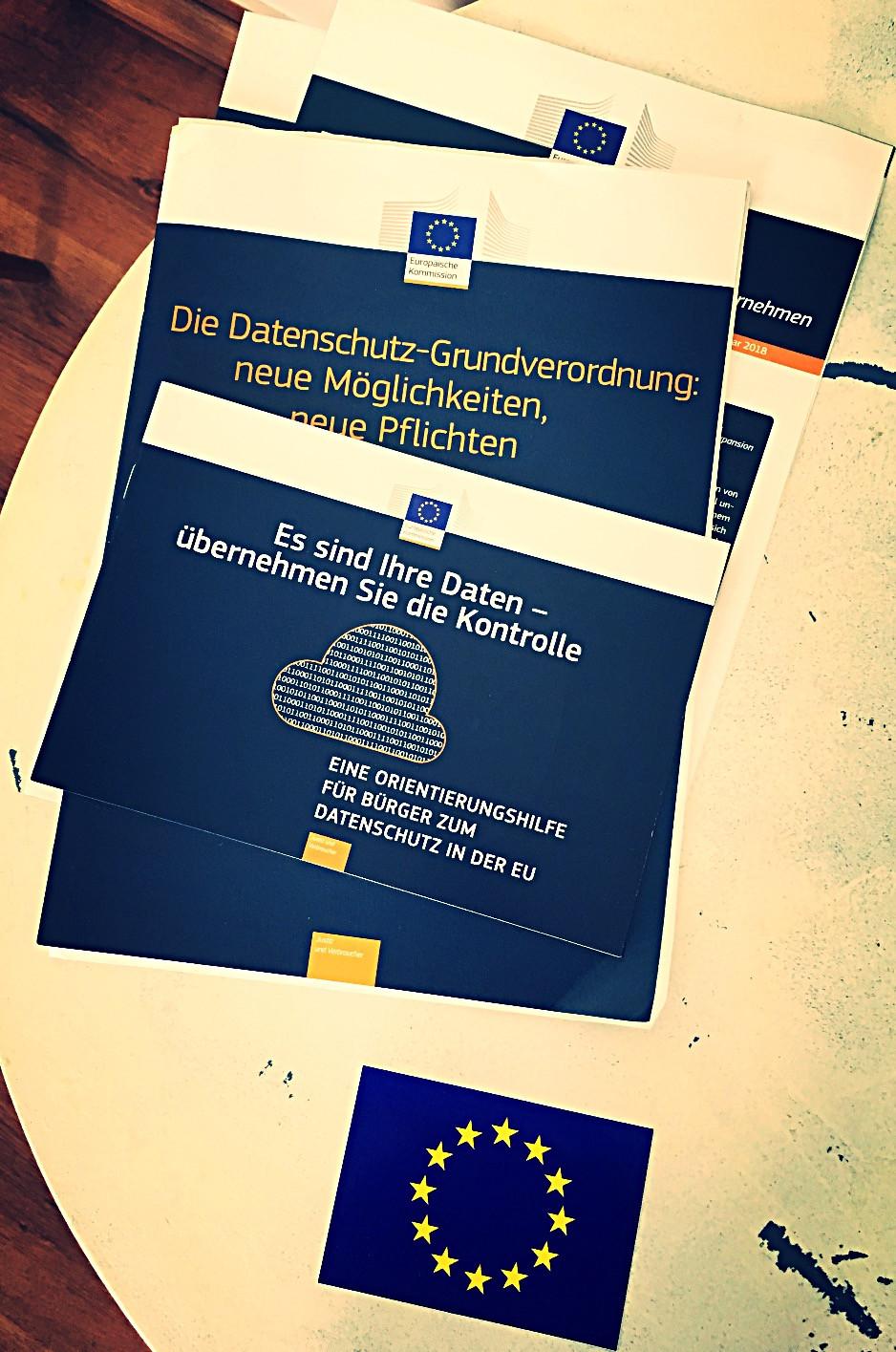 Broschüren  der EU zur DSGVO
