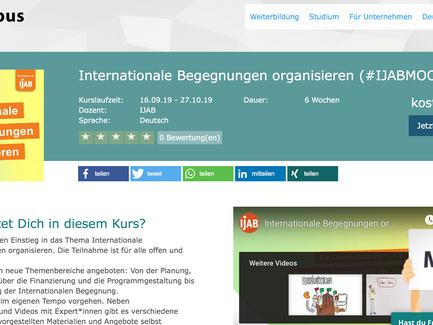 Internationale Begegnungen organisieren (#IJABMOOC)