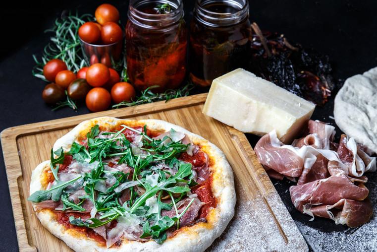 Handmade Tradional Thin Crust Pizza