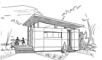 Cabane bois contemporaine. Oyonnax Haut-Bugey