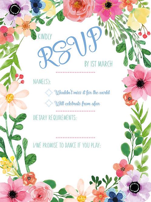 Floral Border | RSVP | Wedding Invitation