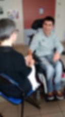 Handicap communication non verbale grace à l'accompagnement socio-esthétique Agnès Angers 49