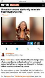 Sandra Igwe on The Metro for the Don't Rush Challenge