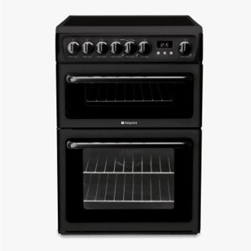 Hotpoint HAE60KS 60cm Black Twin Cavity Ceramic Top