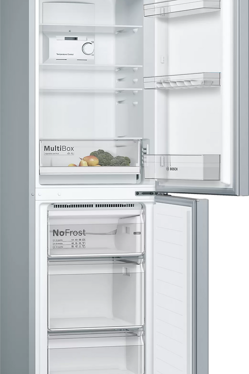 Bosch KGN34NLEAG Fridge Freezer 186 x 60 cm Inox-look
