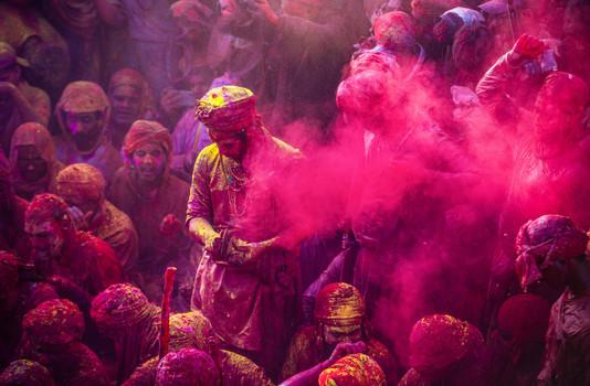 The Colors of Barsana Holi.