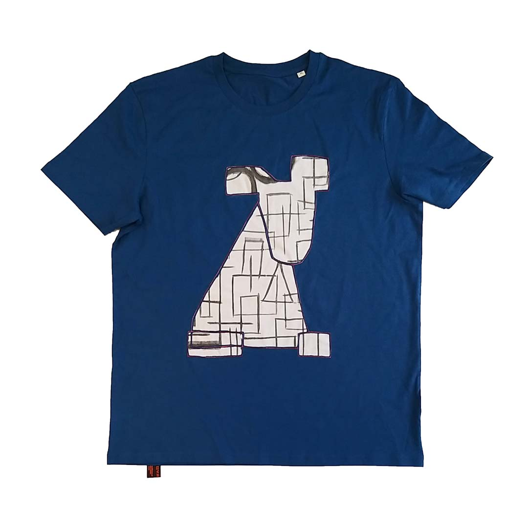 t shirt Dog graffiti XL