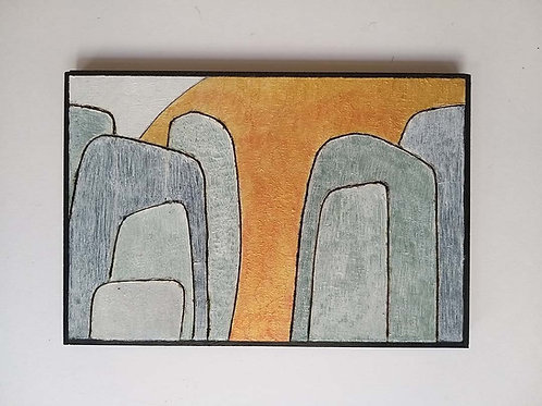 Golden Canyon, mixed media artwork