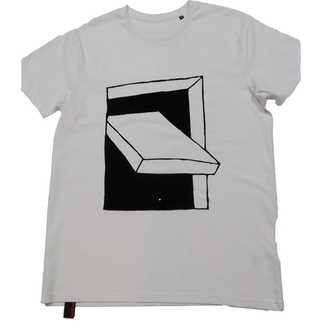 T-shirt wit Frisse lucht