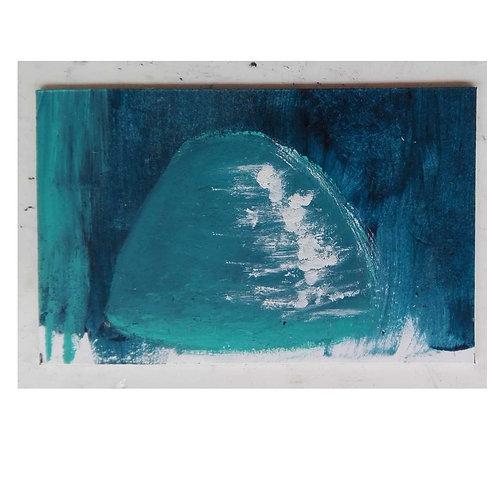 Small artwork blue glass