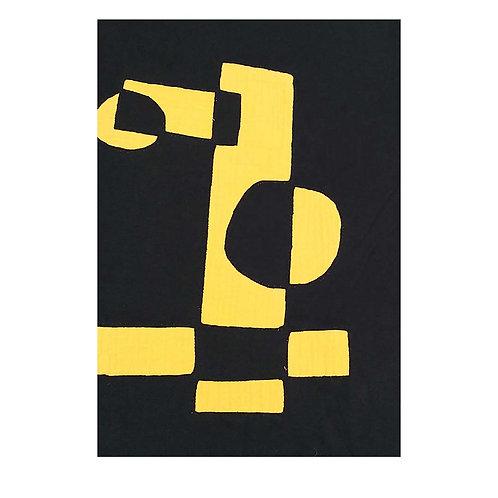 J shirt Yellow blocks en circles XL